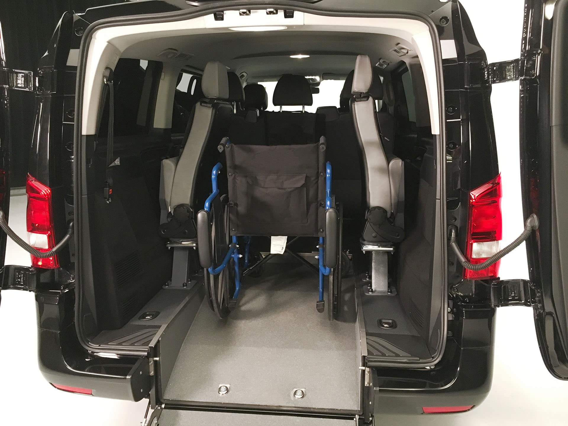 Wheelchair inside.