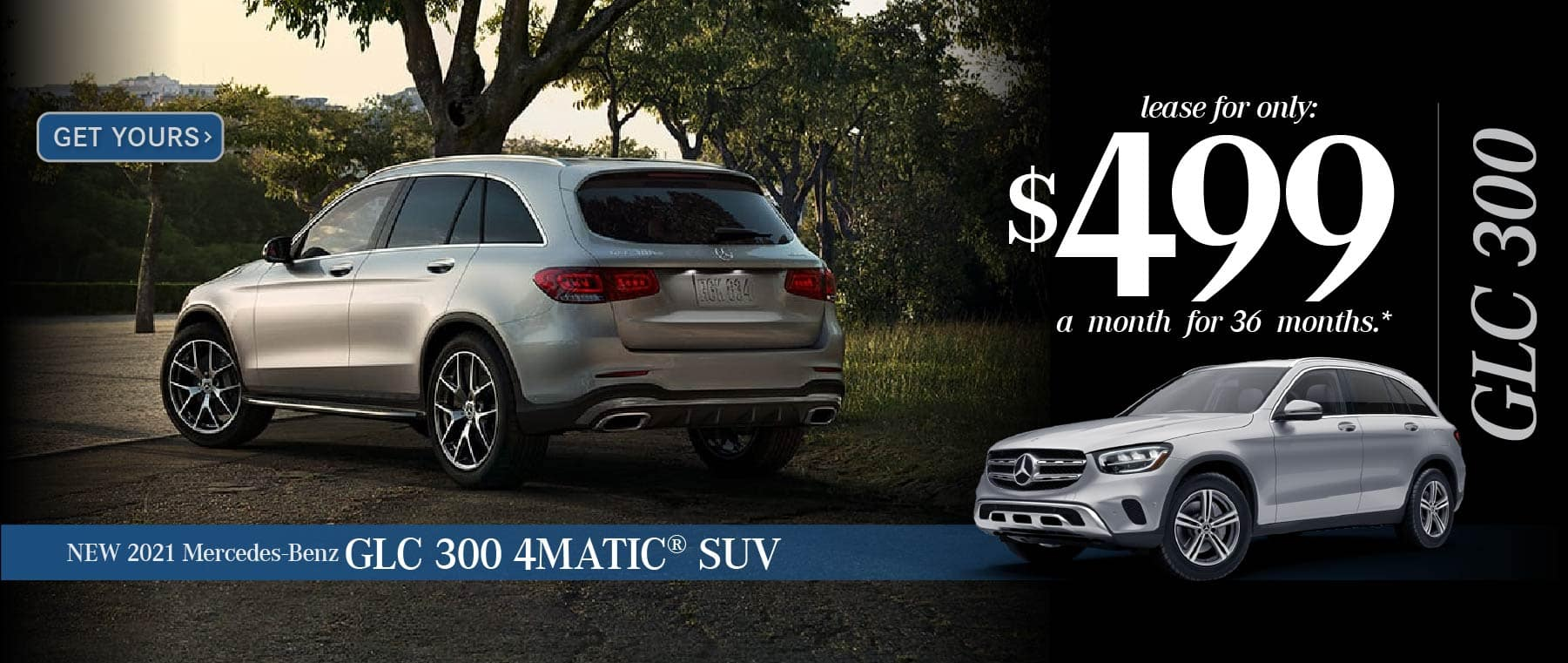 New 2021 Mercedes-Benz GLC 300 - Lease for only $499 a month for 36 months - Get Yours