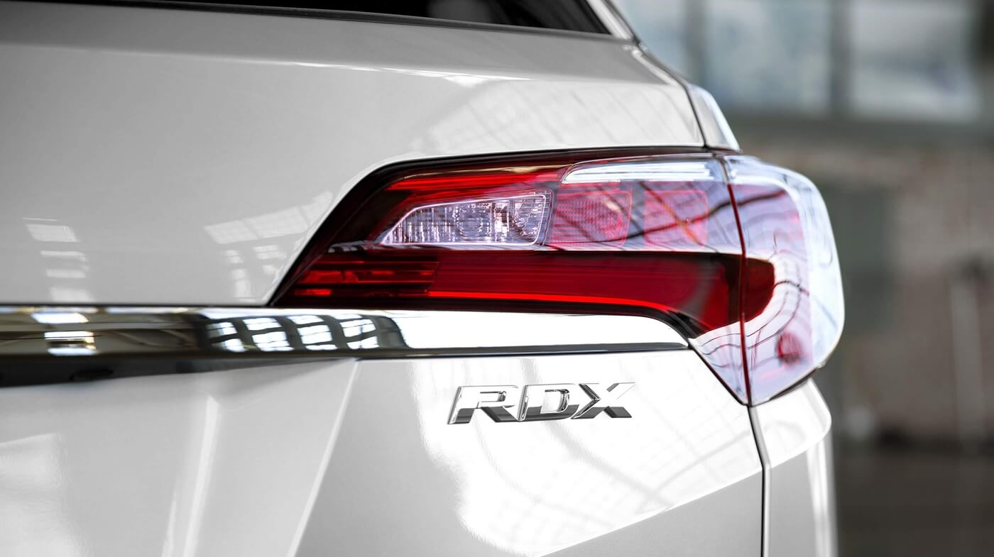 2017 Acura RDX white exterior rear view up close