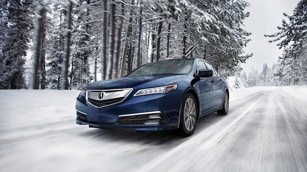 TLX driving in snow