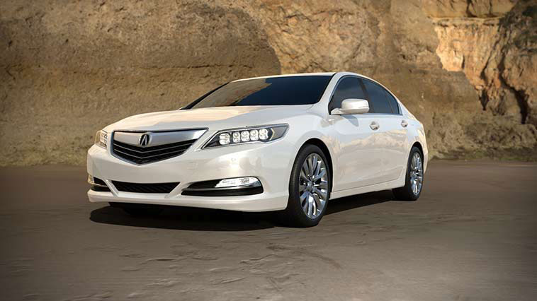 2017 Acura RLX white pearl model