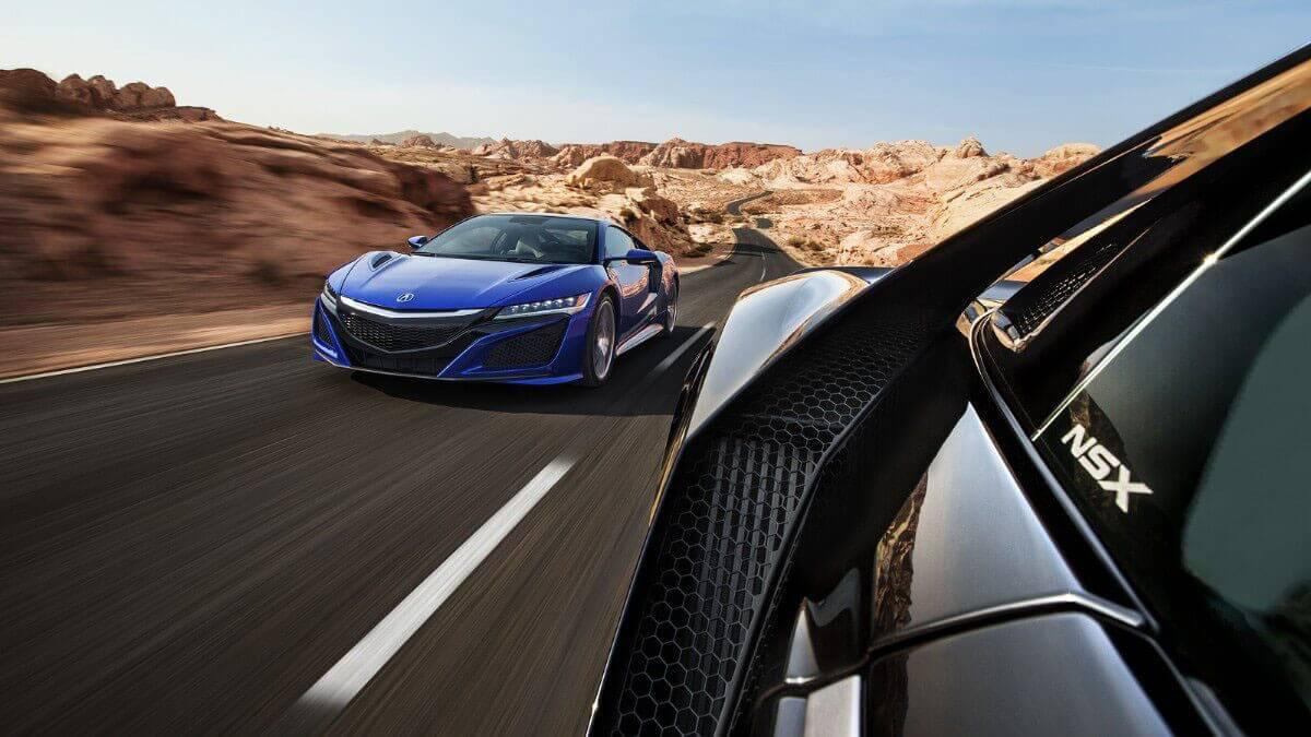 2017 Acura NSX on the highway