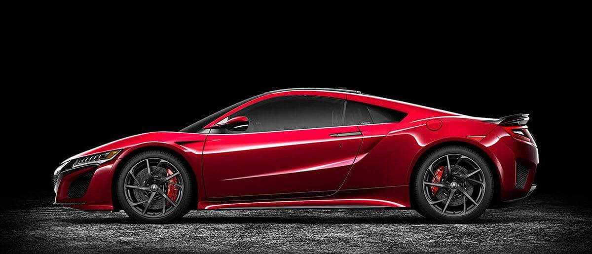 2017 Acura NSX red profile