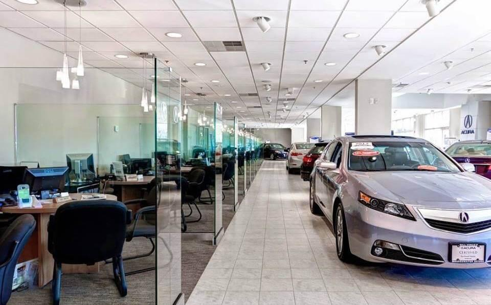 The Bridgewater Acura Showroom