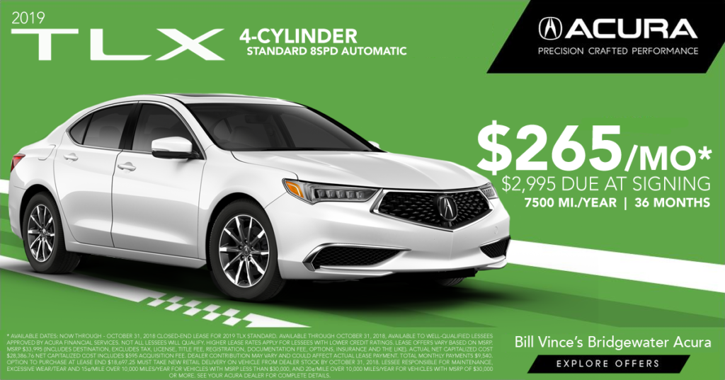 Bridgewater Acura Lease Offers Bill Vinces Bridgewater Acura - Acura tl lease offers