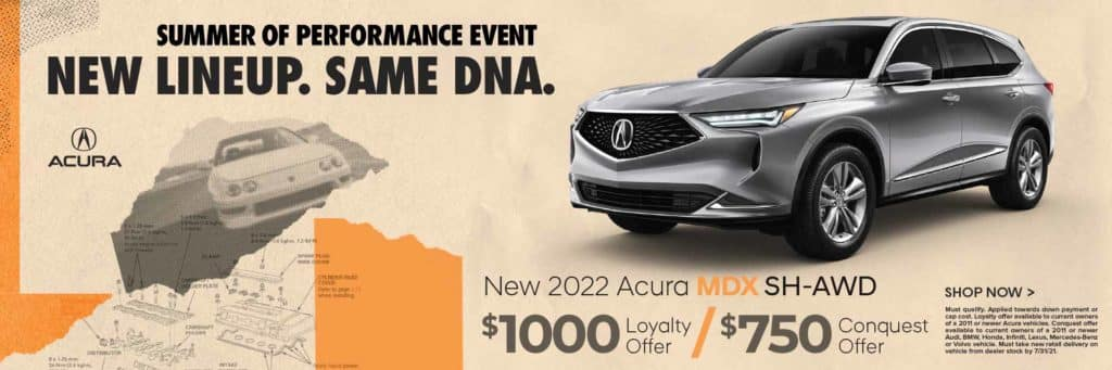 New 2022 Acura MDX SH-AWD $1,000 Loyalty Offer / $750 Conquest Offer