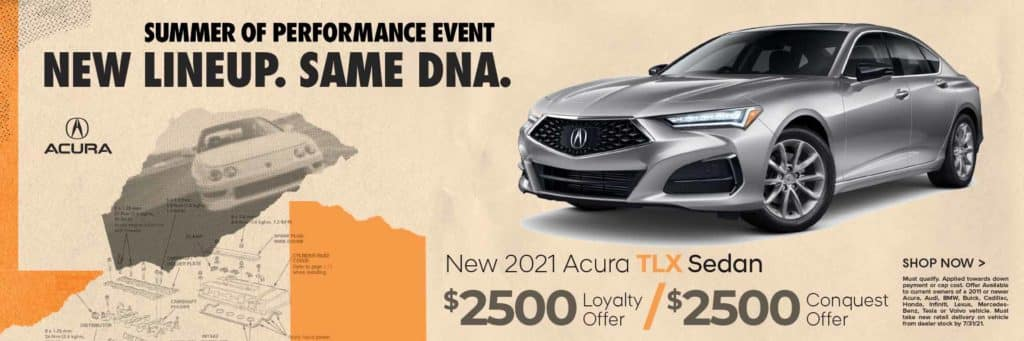New 2021 Acura TLX Sedan $2,500 Loyalty Offer / $2,500 Conquest Offer