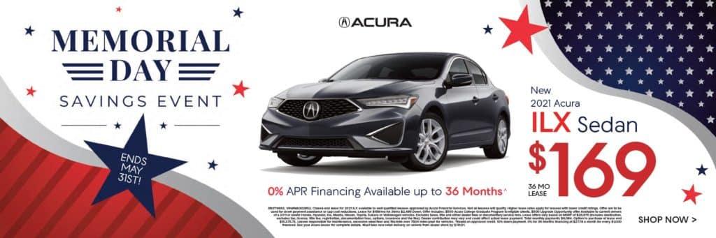 New 2021 Acura ILX $169/36 mo.