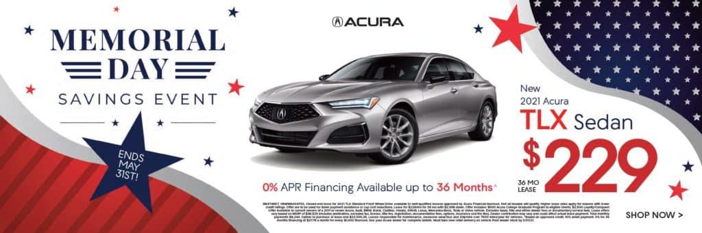 New 2021 Acura TLX Sedan $229/36 mo.
