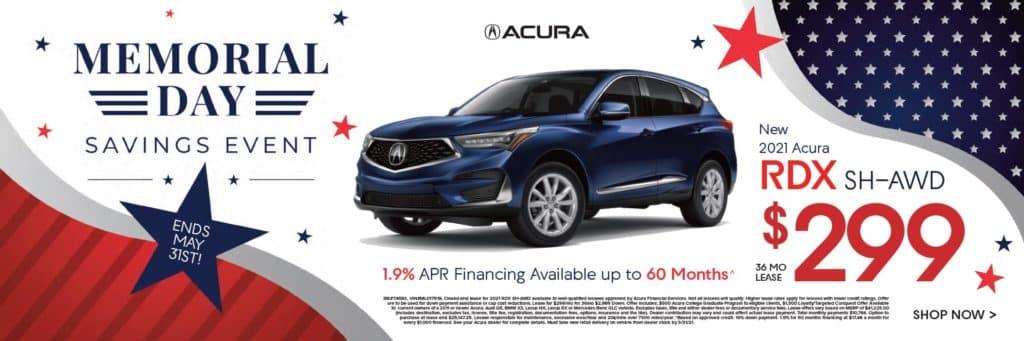 New 2021 Acura RDX SH-AWD $299/36 mo.