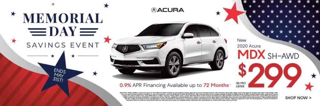 New 2020 Acura MDX SH-AWD $299/36 mo.