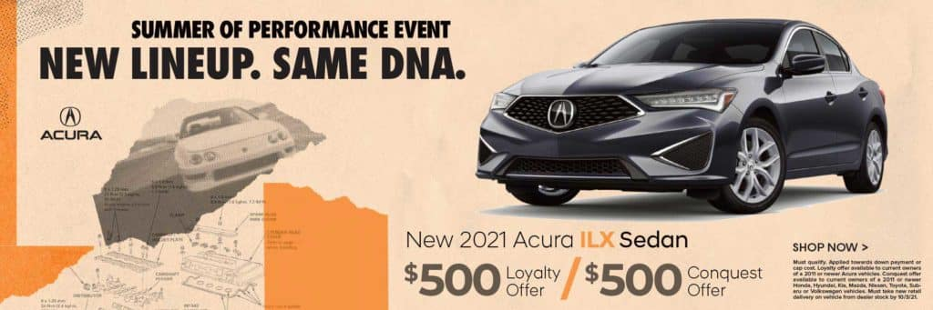 New 2021 Acura ILX $500 Loyalty Offer / $500 Conquest Offer