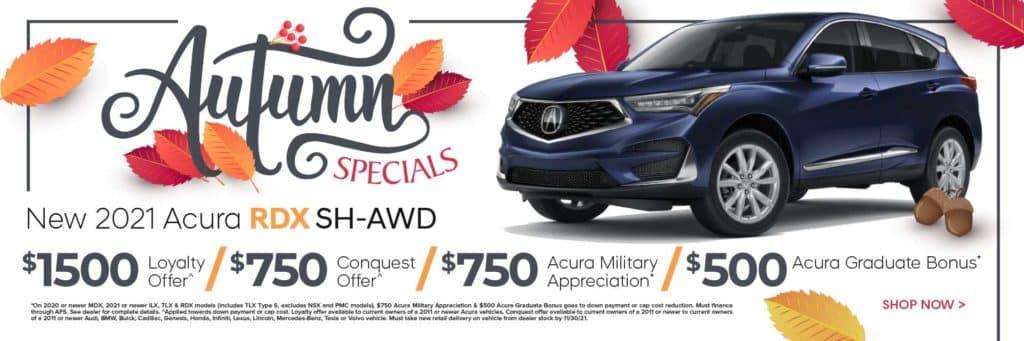 New 2021 Acura RDX SH-AWD $1,500 Loyalty Offer^ / $750 Conquest Offer^ / $750 Acura Military Appreciation* / $500 Acura Graduate Bonus*