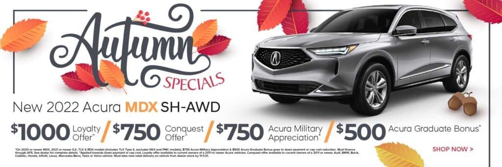 New 2022 Acura MDX SH-AWD $1,000 Loyalty Offer^ / $750 Conquest Offer^ / $750 Acura Military Appreciation* / $500 Acura Graduate Bonus*