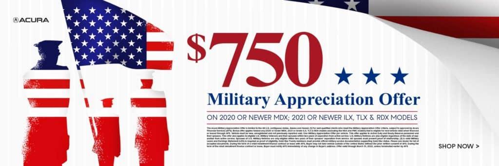 $750 Military Appreciation Offer