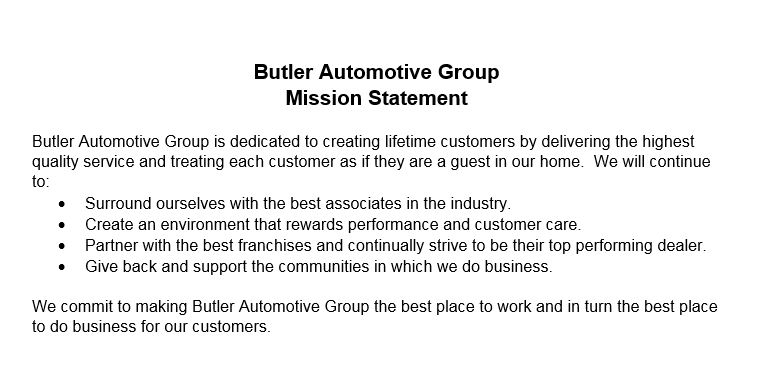 Riverside Ford Macon >> Our Mission Statement | Butler Auto Group
