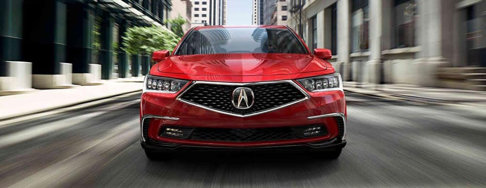 Red 2018 Acura RLX