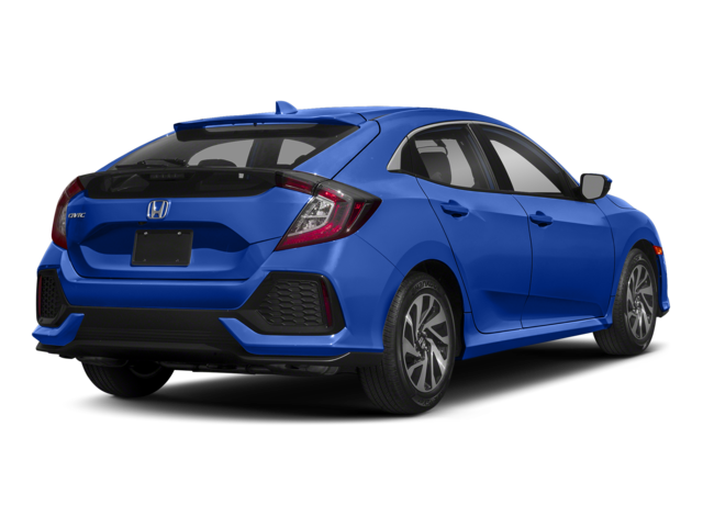2018 Honda Civic Hatchback Blue Rear
