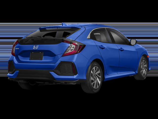 2018 Honda Civic Hatchback Blue Rear