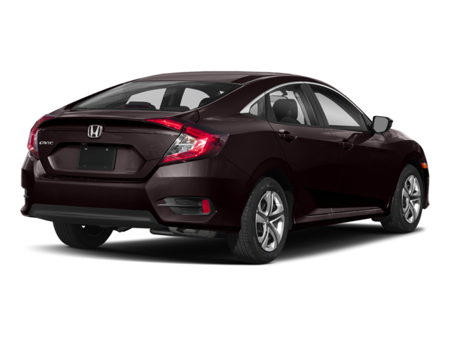2018 Honda Civic Sedan Burgandy Rear