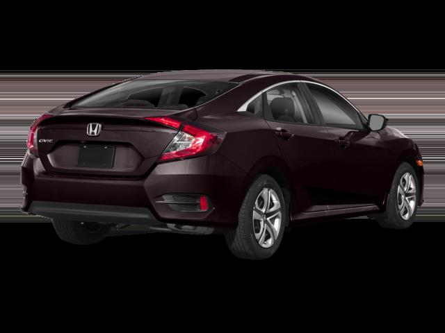 2018 Honda Civic Sedan Burgandy Rear