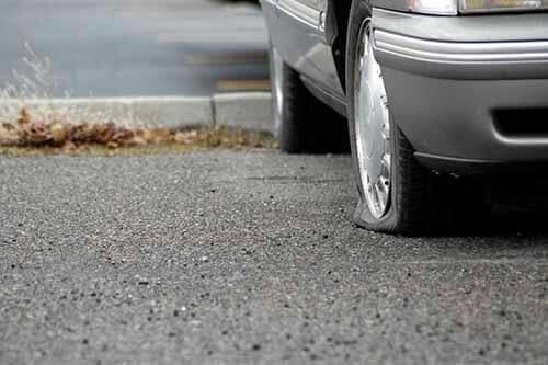 Flat Tire Parking Lot