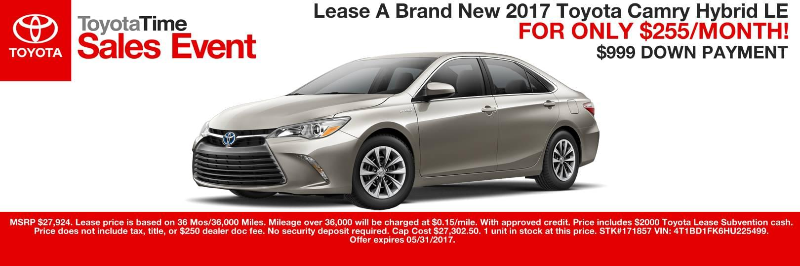 CAMRY HYBRID LEASE SPECIAL CAIN TOYOTA CANTON OHIO