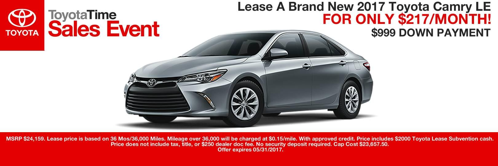 Toyota camry lease deals nj