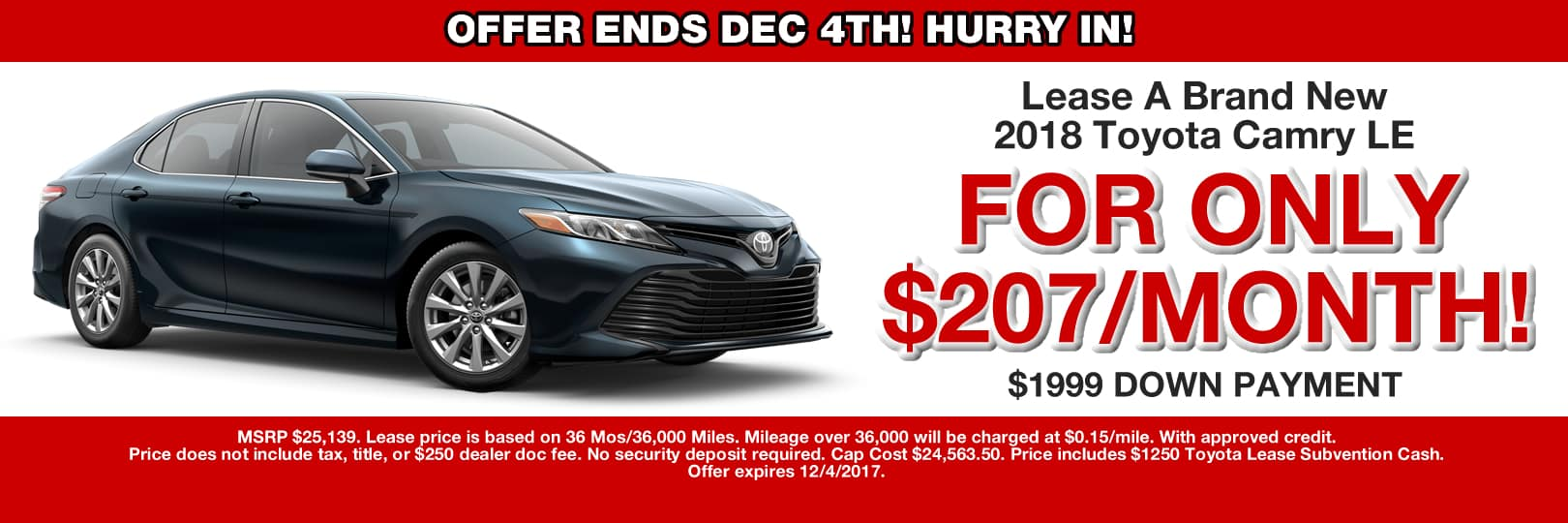 CAMRY LEASE SPECIAL CAIN TOYOTA STARK COUNTY OHIO