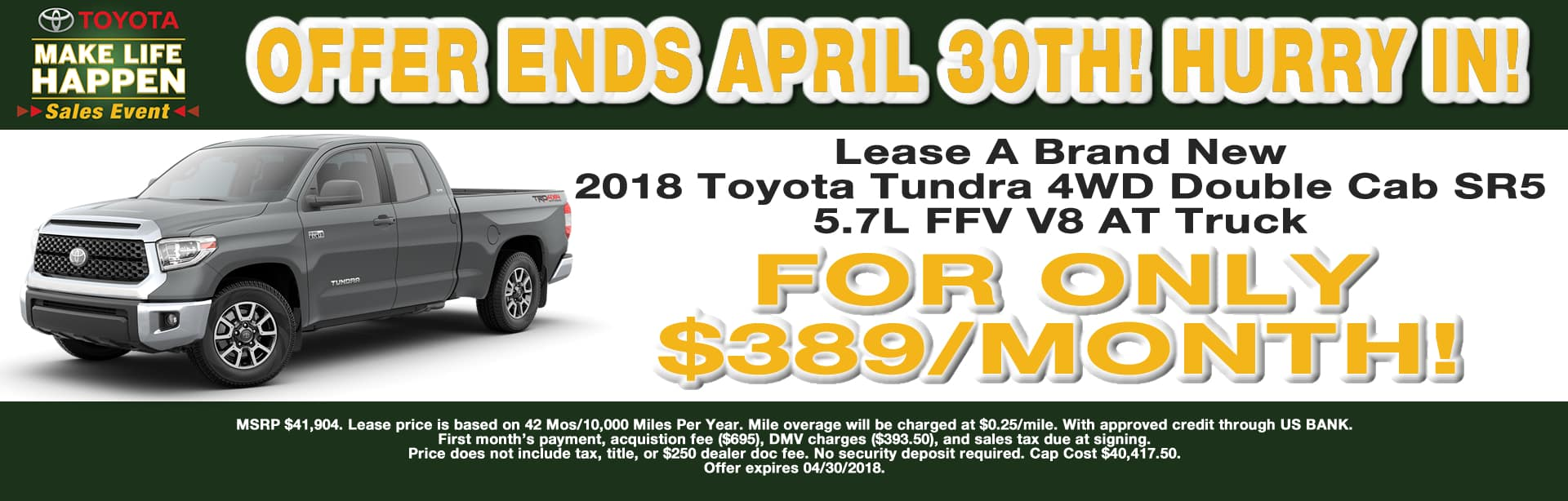 TUNDRA LEASE SPECIAL CAIN TOYOTA NORTH CANTON OHIO
