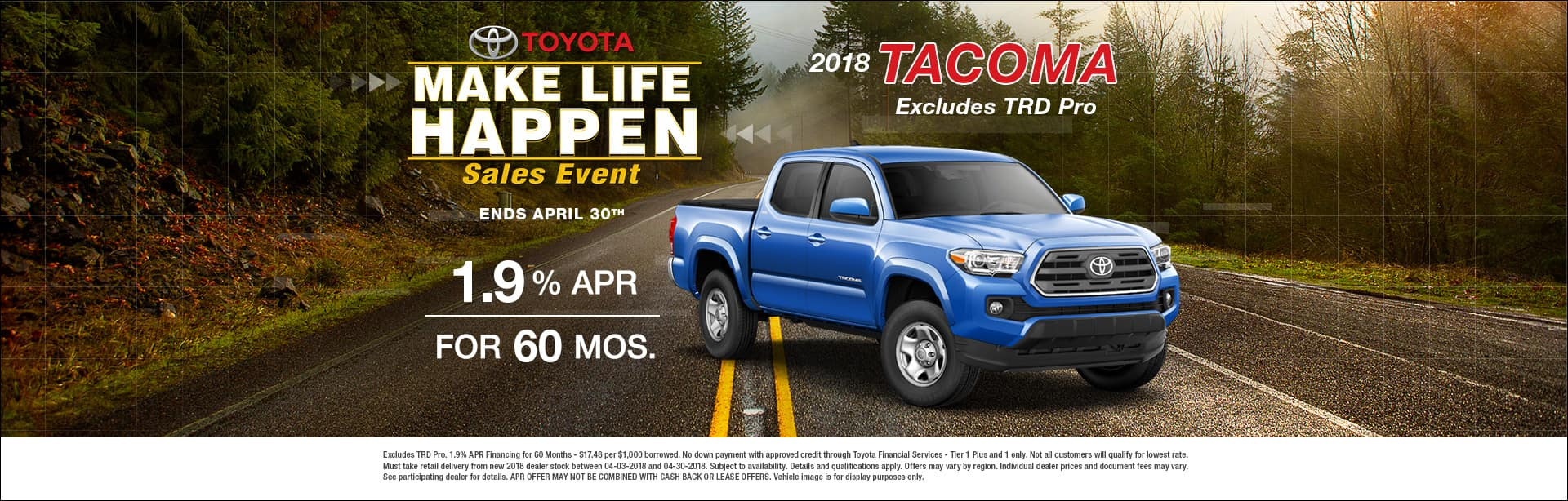 Tacoma Special Finance Offer Cain Toyota North Canton Ohio