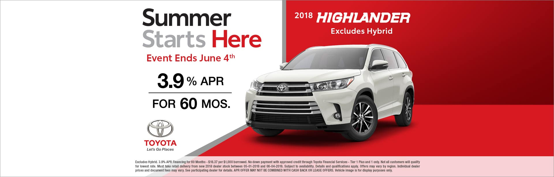 Highlander Finance Special Cain Toyota North Canton Ohio