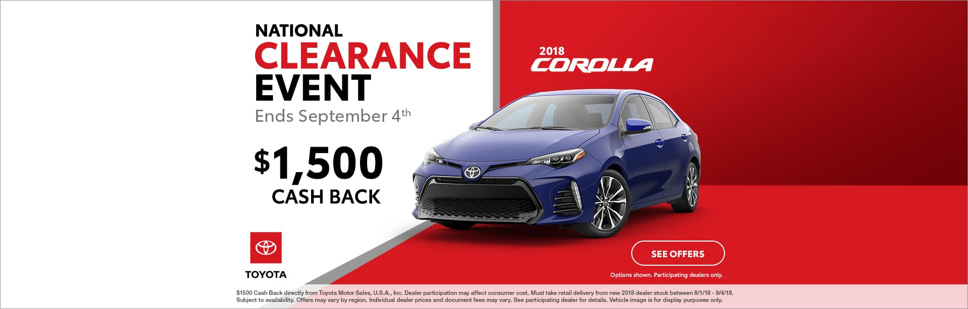Corolla Cash Back Offer Cain Toyota North Canton Ohio