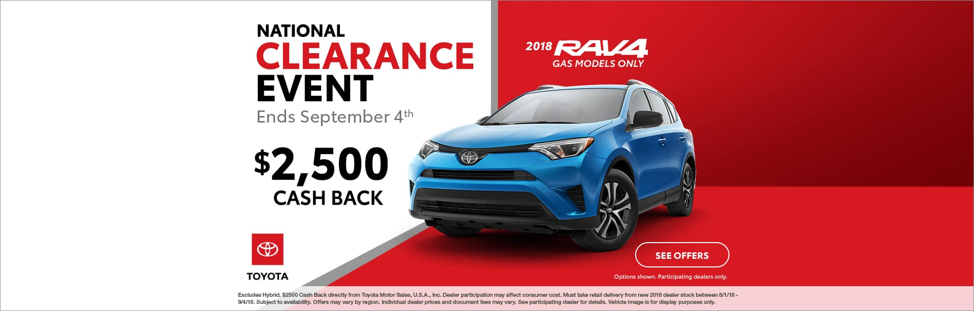 RAV4 Cash Back Offer Cain Toyota North Canton Ohio