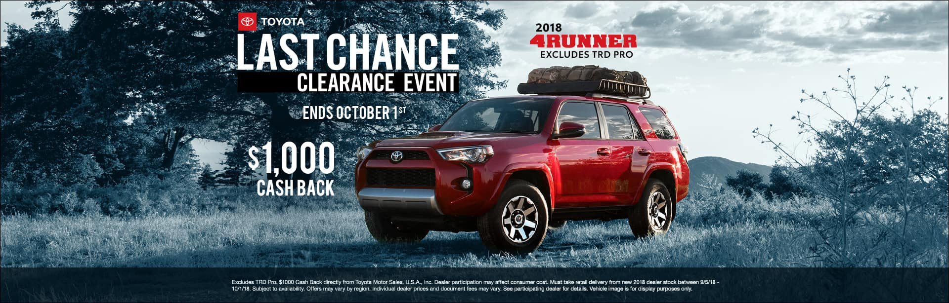 Toyota 4Runner Clearance Event Cain Toyota North Canton Ohio