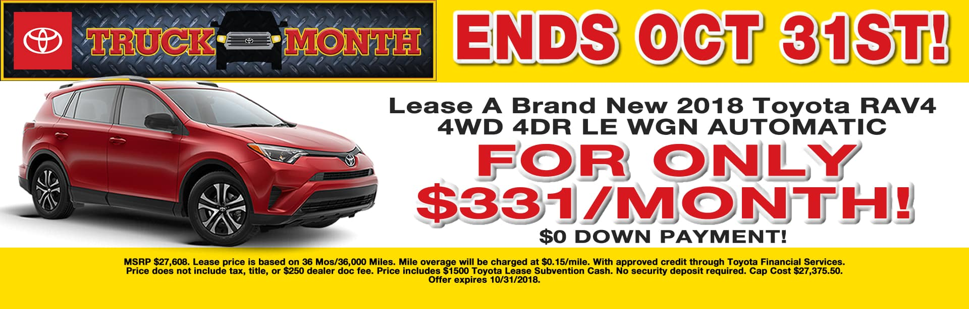 RAV4 LEASE SPECIAL CAIN TOYOTA NORTH CANTON OHIO