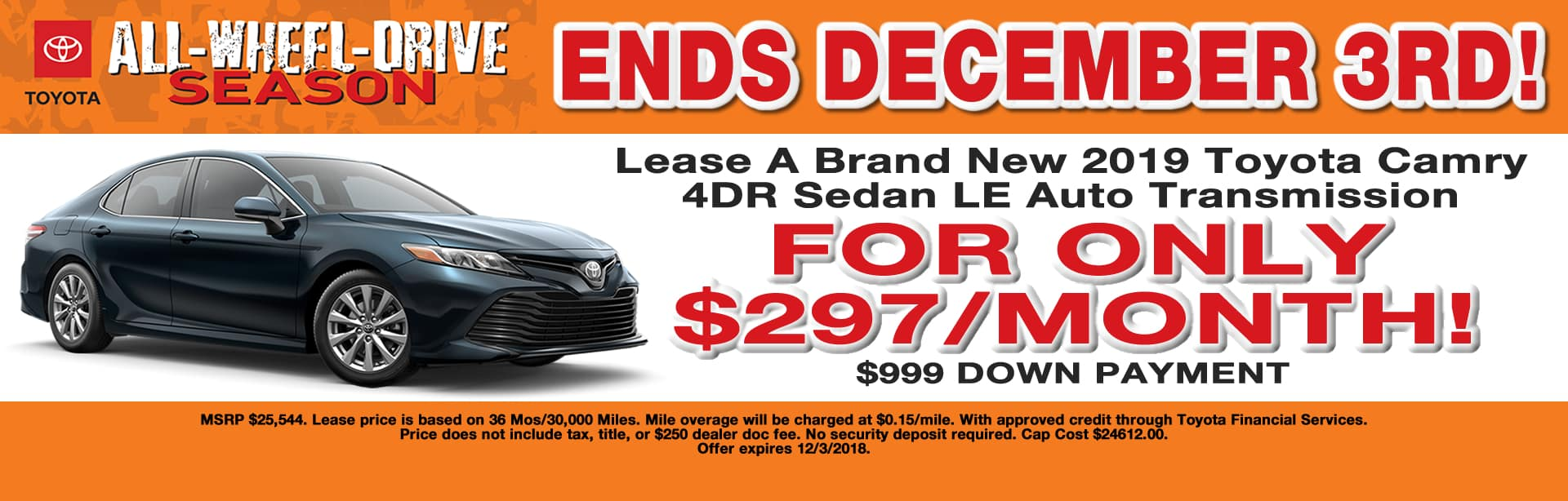 CAMRY LEASE OFFER CAIN TOYOTA NORTH CANTON OHIO