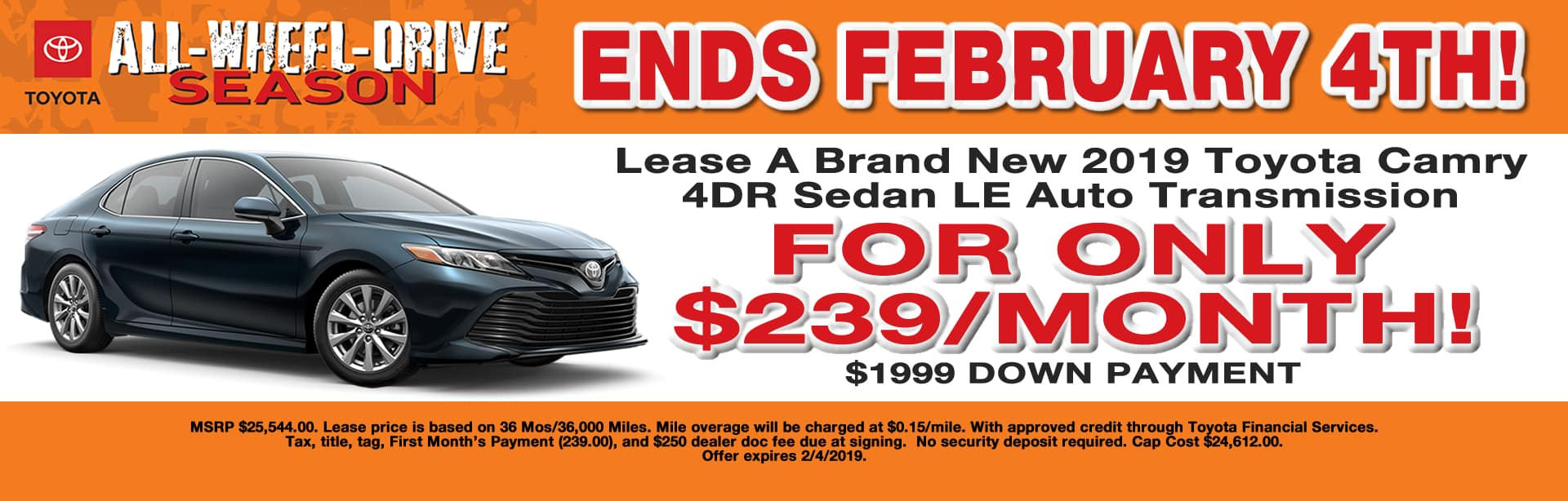 CAMRY LEASE SPECIAL CAIN TOYOTA NORTH CANTON OHIO