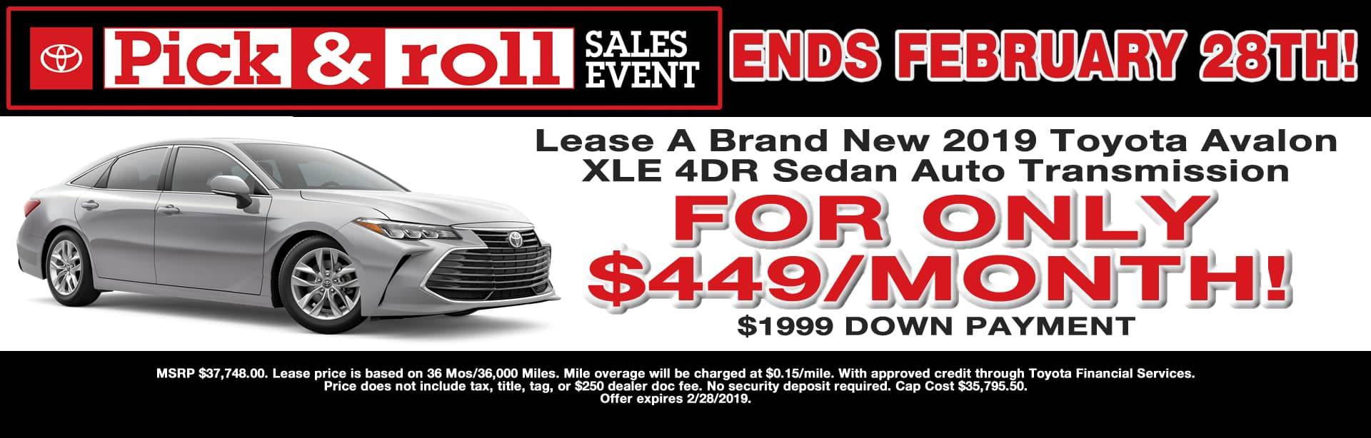 Avalon Lease Special Cain Toyota North Canton Ohio