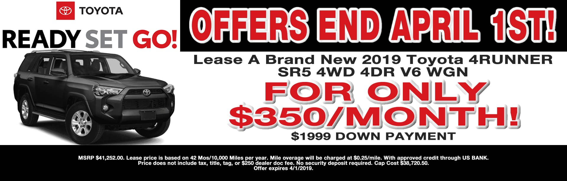 4RUNNER LEASE SPECIAL CAIN TOYOTA NORTH CANTON OHIO