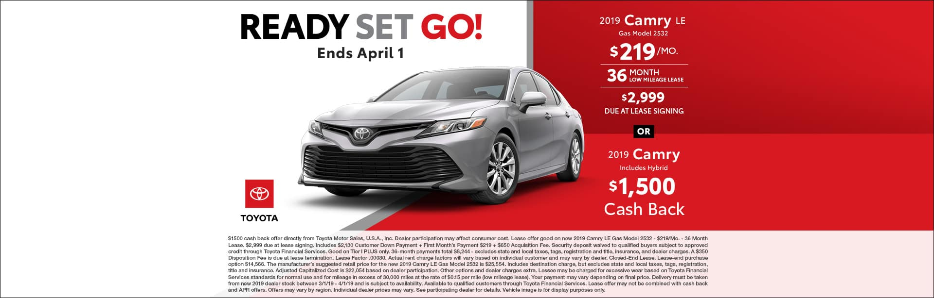 March Camry Deals at Cain Toyota