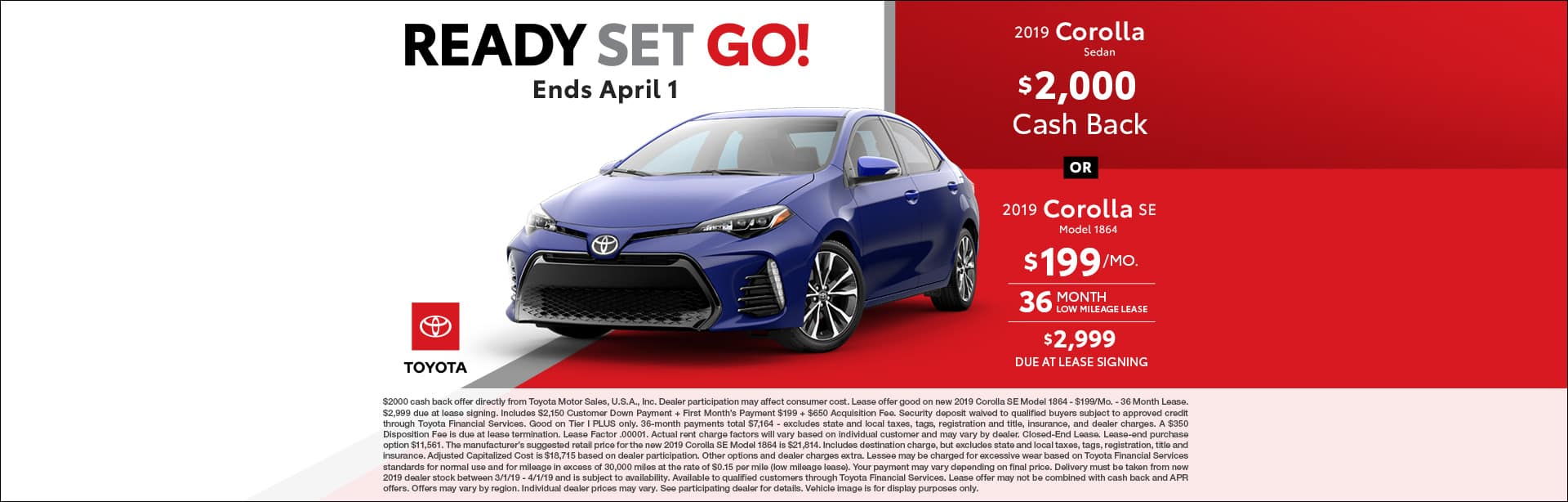 March Corolla Deals At Cain Toyota