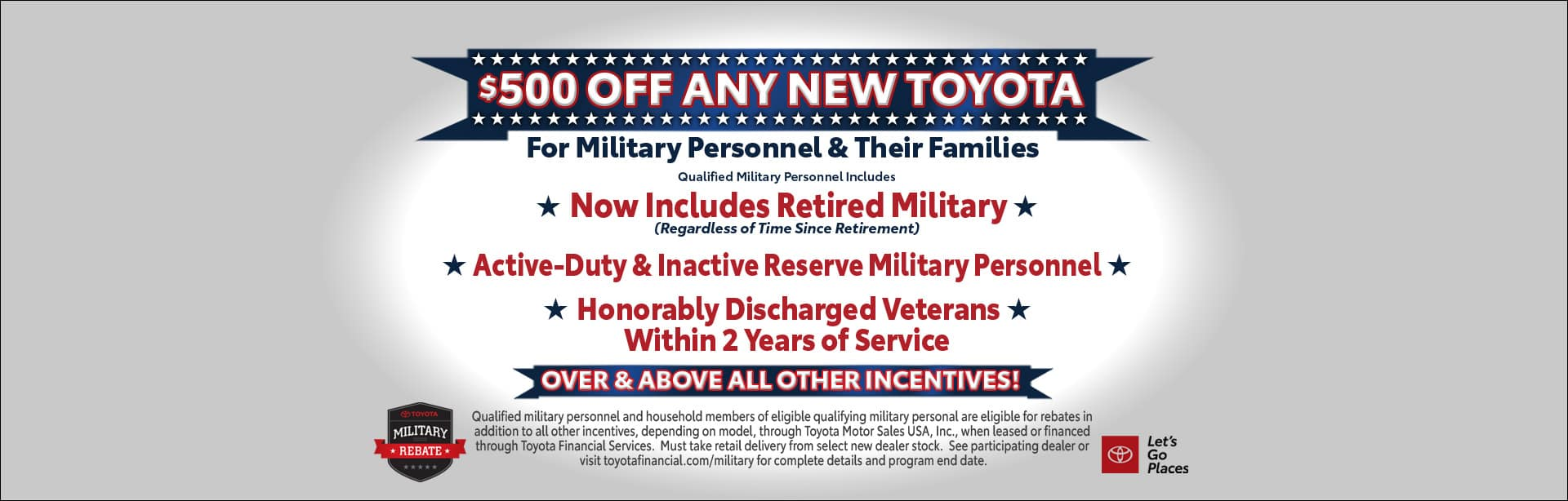 Military Rebate at Cain Toyota North Canton Ohio