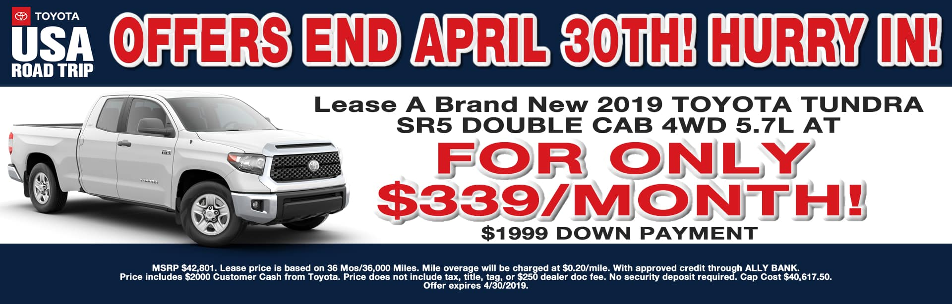 TUNDRA LEASE OFFER CAIN TOYOTA NORTH CANTON OHIO