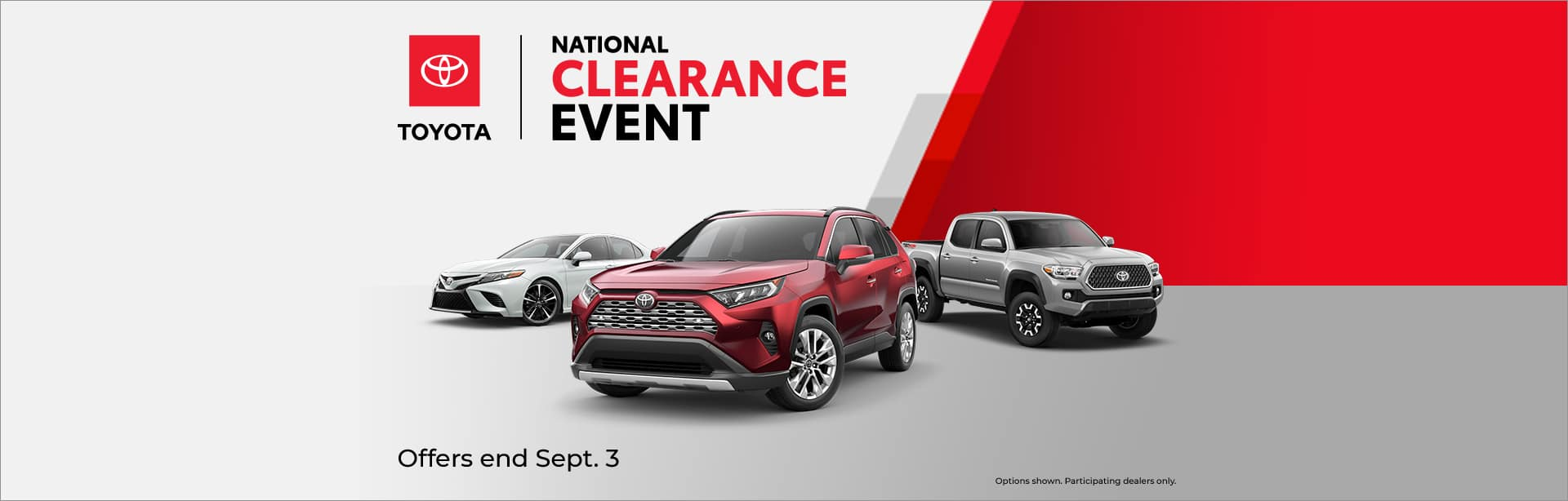 CAIN TOYOTA NATIONAL CLEARANCE EVENT NORTH CANTON OHIO