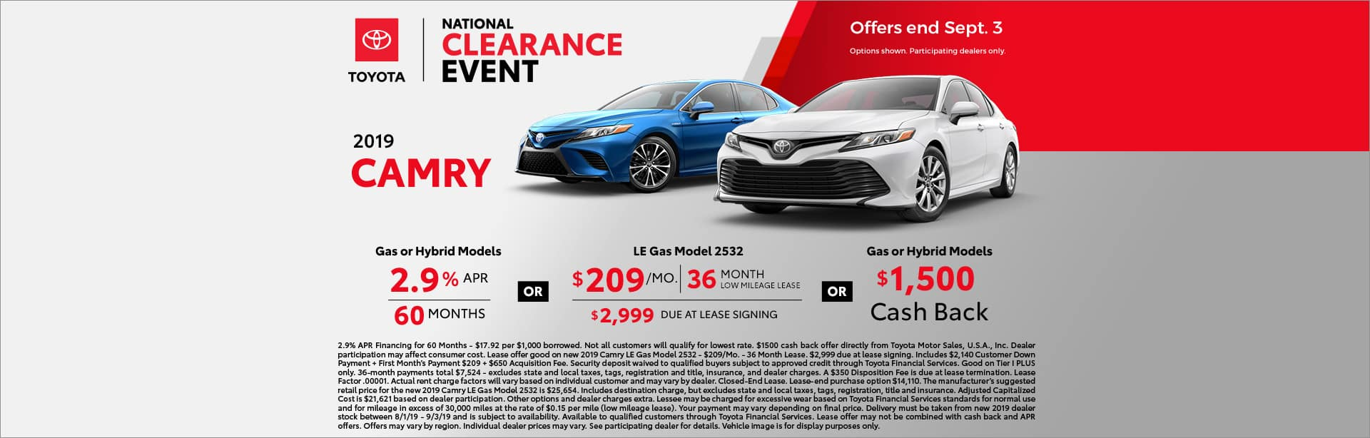 CAMRY TOYOTA OFFER
