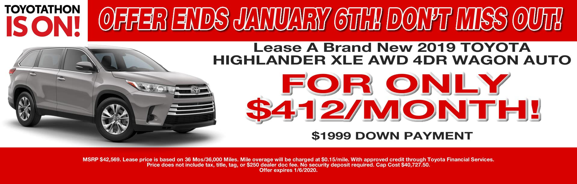 HIGHLANDER LEASE OFFER CAIN TOYOTA NORTH CANTON OHIO