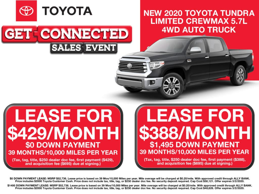 LEASE SPECIAL! New 2020 Toyota Tundra Limited CrewMax 5.7L 4WD Auto Truck