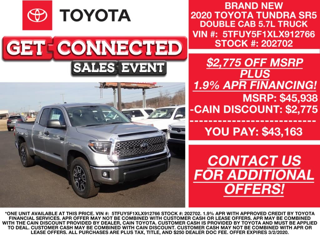 PURCHASE OFFERS! New 2020 Toyota Tundra SR5 Double Cab 5.7L Truck