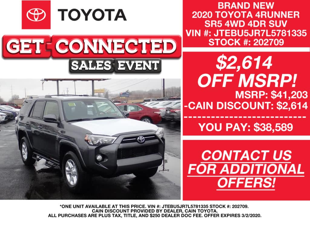 PURCHASE OFFERS! New 2020 Toyota 4Runner SR5 4WD 4DR SUV